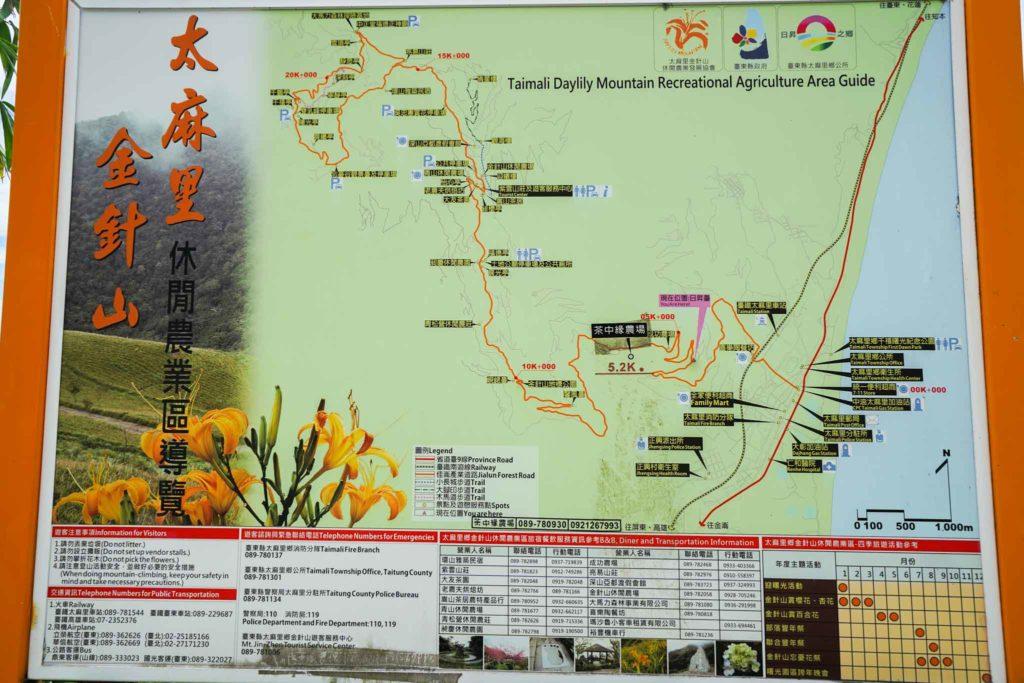 太麻里金針山旅遊地圖