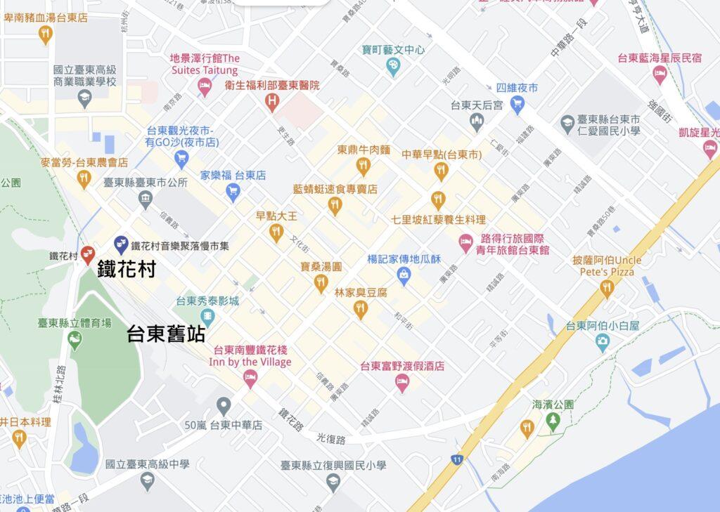 鐵花村位置