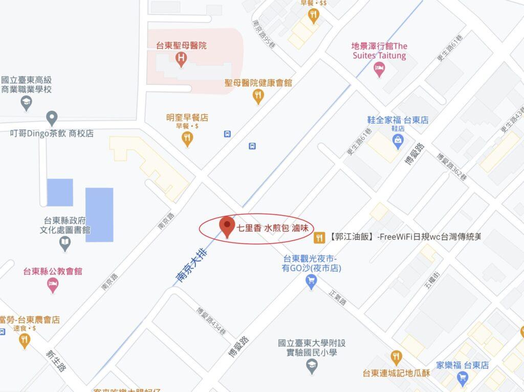 七里香水煎包滷味地圖