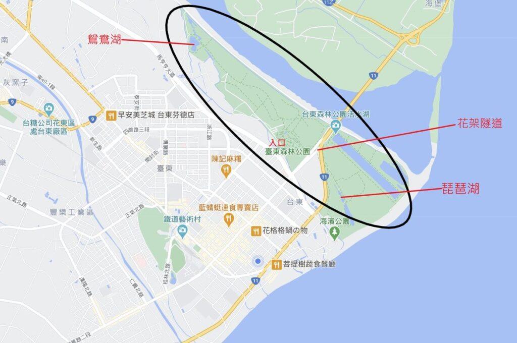台東森林公園位置圖
