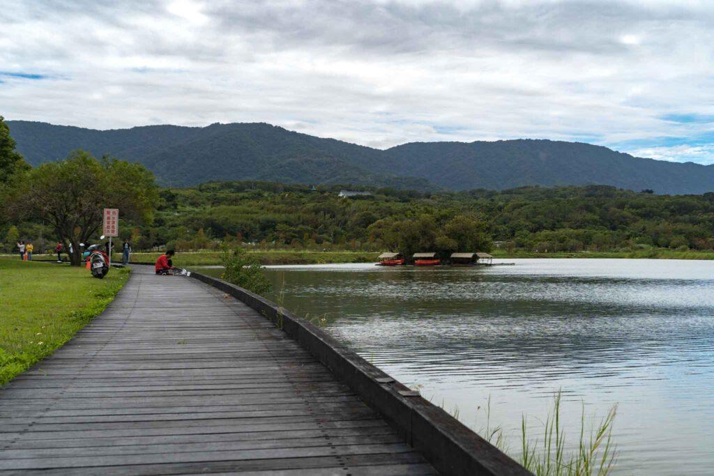 池上大坡池風景