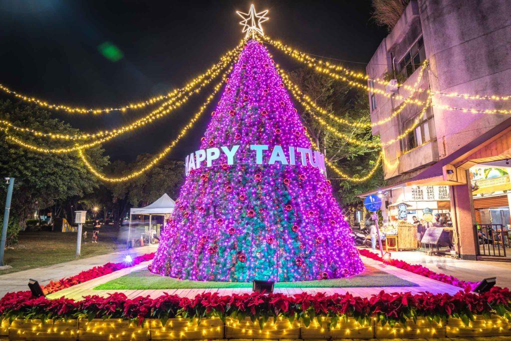 鐵花新聚落的聖誕樹