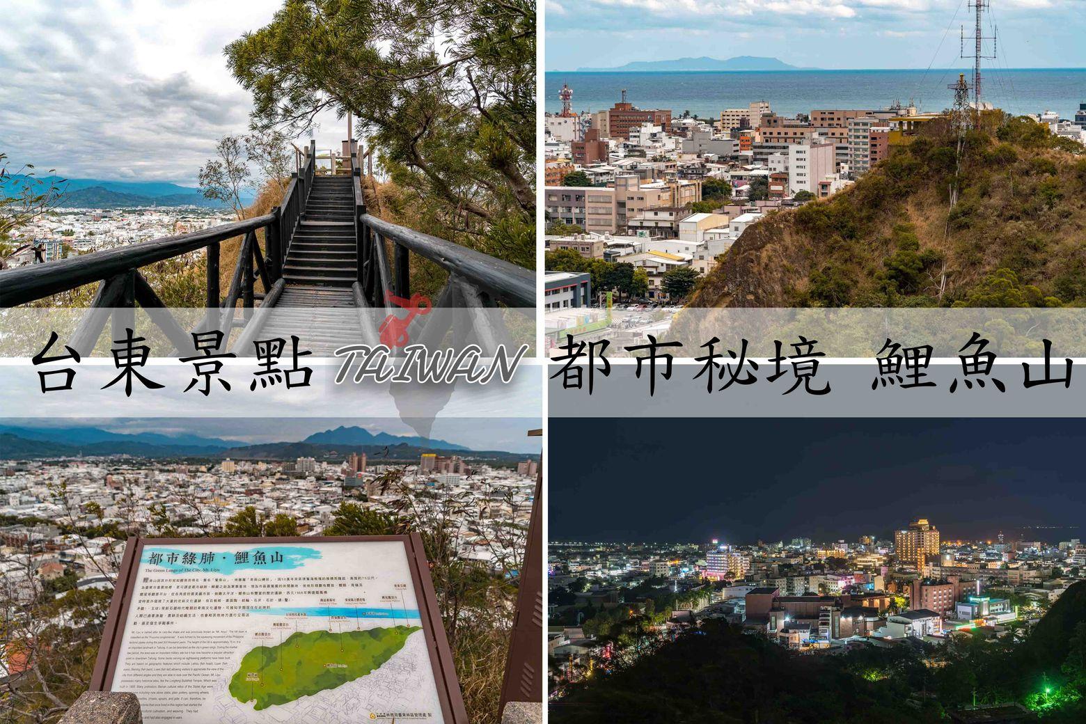 『台東市區景點』最輕鬆登山步道,鯉魚山公園,360度環繞市景超療癒