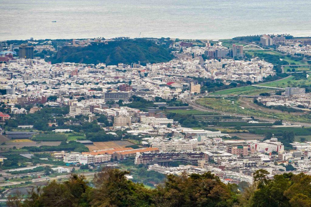 從四格山遠眺台東市區