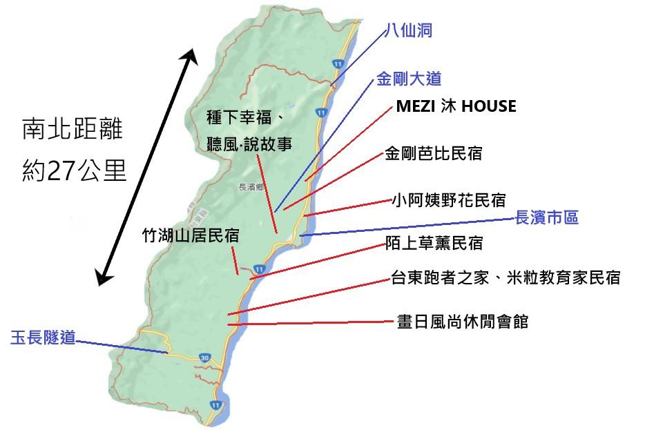 長濱住宿推薦地圖